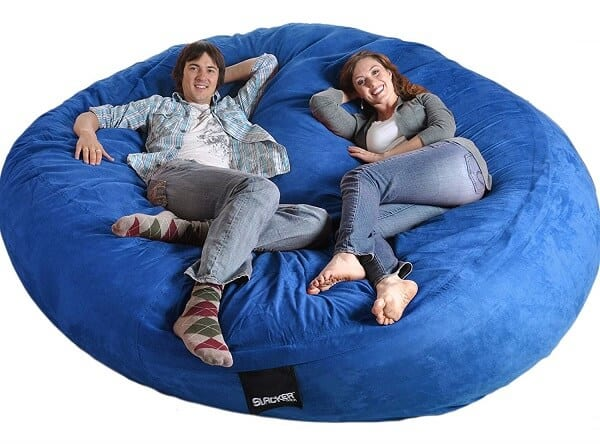 Slacker Sack Round Foam Bean Bag Chair
