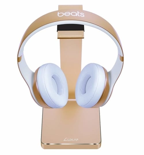 LUXA2 E-One Gold Solid-Metal Aluminum Universal Gaming Headphone Stand