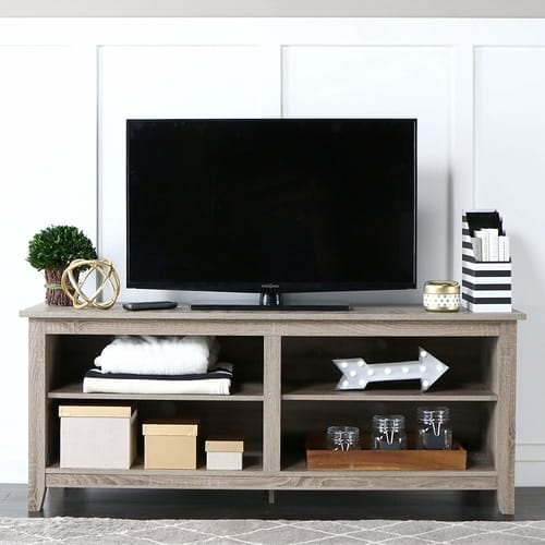 "WE Furniture 58"" Wood TV Stand"