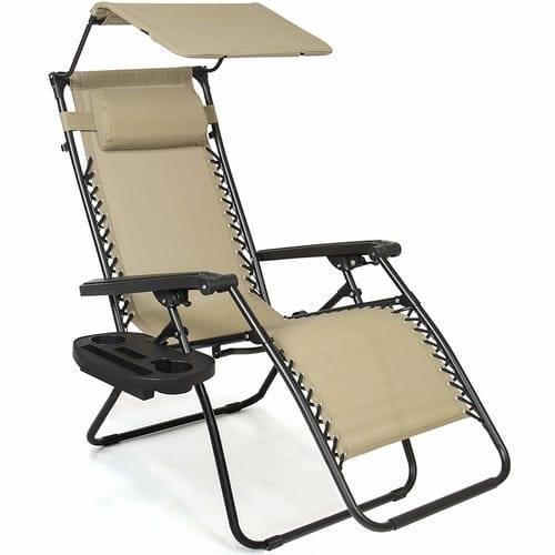 Canopy Sunshade Lounge Chair Patio