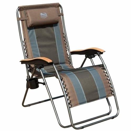 Timber Ridge Zero Gravity Locking Patio Outdoor Lounger Chair